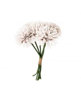 Bouquet de 6 dahlias 26cm blanc
