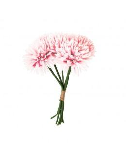 Bouquet de 6 dahlias 26cm rose