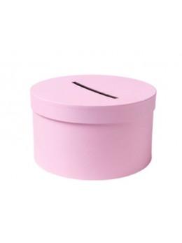 Urne ronde carton rose