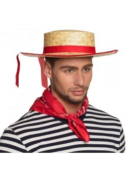 Chapeau gondolier paille