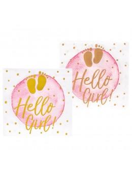 12 serviettes Hello Girl