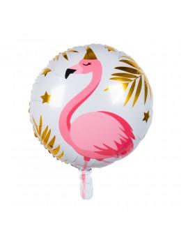 Ballon alu flamant rose