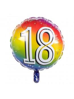 Ballon alu 18 ans multicolore