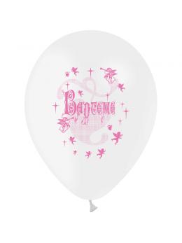 10 Ballons baptème rose 30cm