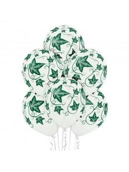 6 ballons thème végétal