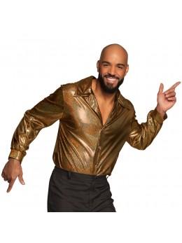 Déguisement chemise disco or shiny