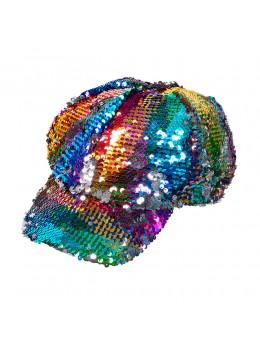 Casquette disco Rainbow sequin