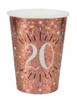 10 gobelets 20 ans rose gold