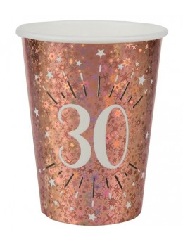 10 gobelets 30 ans rose gold