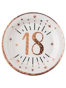 10 assiettes 18 ans rose gold