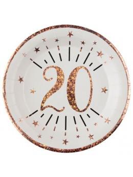 10 assiettes 20 ans rose gold
