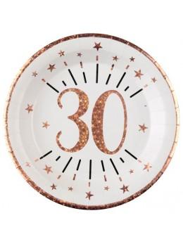 10 assiettes 30 ans rose gold