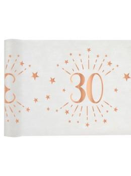 Chemin de table 30 ans rose gold