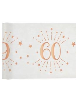 Chemin de table 60 ans rose gold