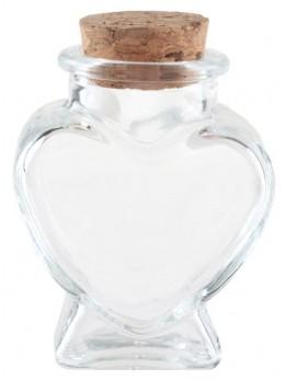 Pot à dragées forme coeur