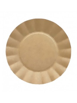 8 Assiettes kraft compostable biodégradable 24.5 cm
