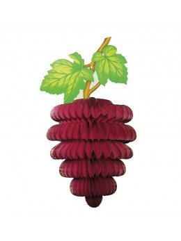 Déco grappe raisin bordeaux 30cm