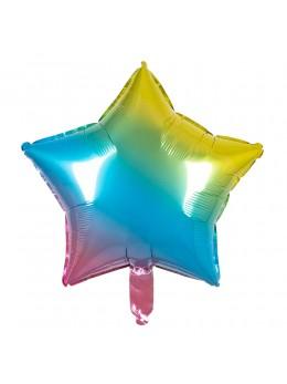 Ballon étoile multicolore 45cm