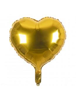 Ballon coeur or 45cm