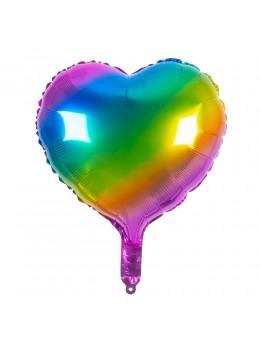 Ballon coeur multicolore 45cm