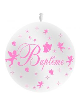 Ballon baptème rose 90cm