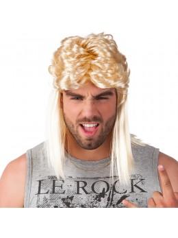 Perruque mullet blonde