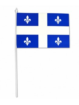 10 Drapeaux papier Quebec