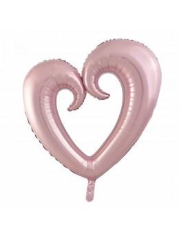 Ballon coeur rose gold 90cm