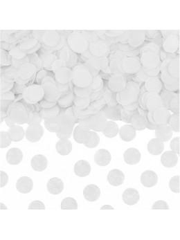 Sachet 15g confetti 2.5cm blanc