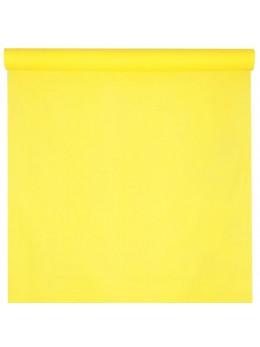Nappe damassée 10 m jaune citron
