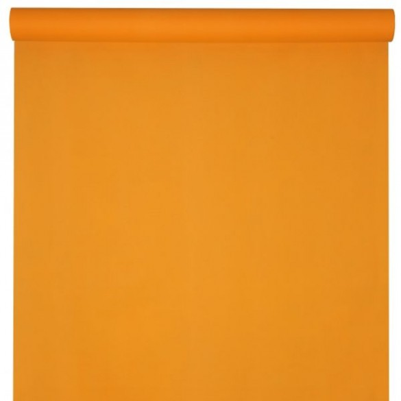 Nappe damassée 25m orange
