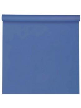 Nappe damassée 25m bleu royal
