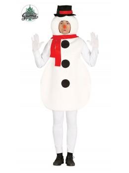 Déguisement mascotte bonhomme de neige