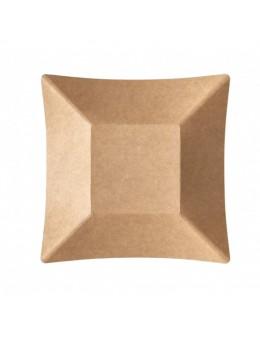8 Assiettes kraft compostable biodégradable 19.8 cm