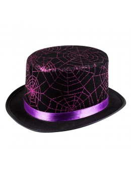 Chapeau haut de forme toile araignée