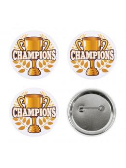 Set de 4 badges champions