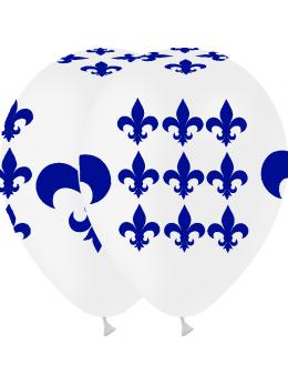 8 ballons médiéval fleur de lys