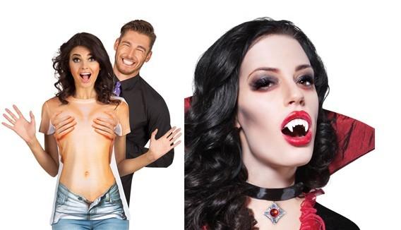 Faux Corps humain pour Halloween : Faux seins, nez, dents de zombie, etc. - Fête en Folie