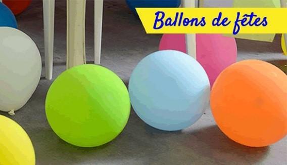Ballons 30cm unis par 50 décoration originale