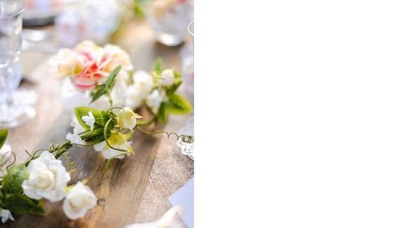 Fleurs,feuilles déco de mariage
