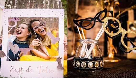 Accessoires Photobooth : Séance photo mariage, anniversaire, jour de l'an