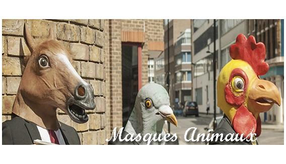 Masque Animaux déguisement en latex | Enfant & Adulte - Fête en Folie