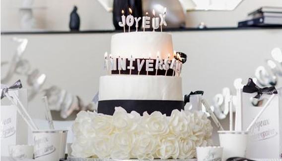 Bougies anniversaires et chiffres