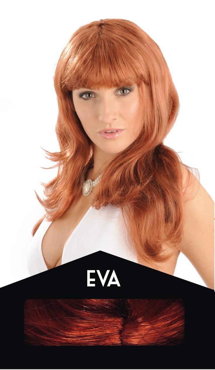 Perruque Eva rousse | Perruque rousse pas