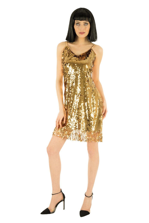 Robe de soiree disco femme